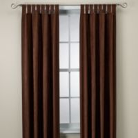 Microsuede 84-Inch Window Curtain Panel in Chocolate