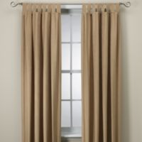 Microsuede 84-Inch Window Curtain Panel in Ginger