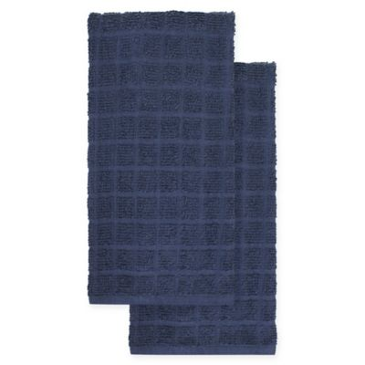 Merveilleux KitchenSmart® Colors 2 Pack Solid Kitchen Towels In Navy