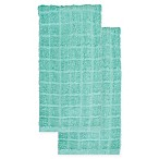 KitchenSmart® Colors 2-Pack Solid Kitchen Towels in Surf