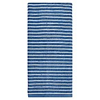 KitchenSmart® Colors Horizontal Stripe Kitchen Towel in French Blue