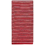 KitchenSmart® Colors Horizontal Stripe Kitchen Towel in Paprika