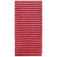 KitchenSmart® Colors Horizontal Stripe Kitchen Towel in Paprika