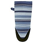 KitchenSmart® Colors Stripe Neoprene Oven Mitt in French Blue