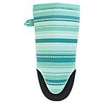 KitchenSmart® Colors Stripe Neoprene Oven Mitt in Surf