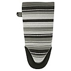 KitchenSmart® Colors Stripe Neoprene Oven Mitt in Grey
