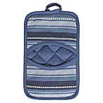 KitchenSmart® Colors Multi Stripe Pocket Pot Mitt in French Blue/Navy
