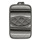 KitchenSmart® Colors Multi Stripe Pocket Pot Mitt in Mineral Grey/Caviar