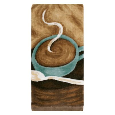 KitchenSmart® Colors Painterly Coffee Fiber Reactive Kitchen Towel In Mocha