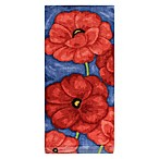 KitchenSmart® Colors Painterly Poppies Fiber Reactive Kitchen Towel in Paprika