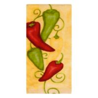 KitchenSmart® Colors Painterly Chili Peppers Fiber Reactive Kitchen Towel in Daffodil