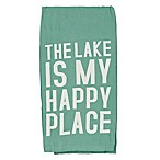 "Primitives by Kathy® ""The Lake Is My Happy Place"" Kitchen Towel"