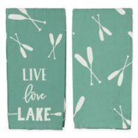 """Primitives by Kathy® """"Live Love Lake"""" Kitchen Towel"""
