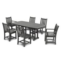 POLYWOOD® Traditional Garden 7-Piece Dining Set in Slate Grey