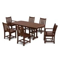 POLYWOOD® Traditional Garden 7-Piece Dining Set in Mahogany