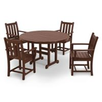 POLYWOOD® Traditional Garden 5-Piece Dining Set in Mahogany