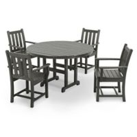 POLYWOOD® Traditional Garden 5-Piece Dining Set in Slate Grey