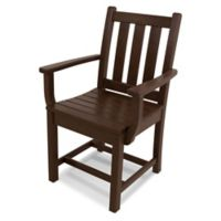 POLYWOOD® Traditional Garden Dining Arm Chair in Mahogany