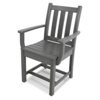 POLYWOOD® Traditional Garden Dining Arm Chair in Slate Grey