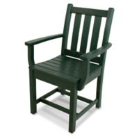 POLYWOOD® Traditional Garden Dining Arm Chair in Green