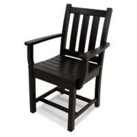 POLYWOOD® Traditional Garden Dining Arm Chair in Black