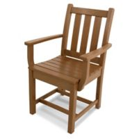 POLYWOOD® Traditional Garden Dining Arm Chair in Teak