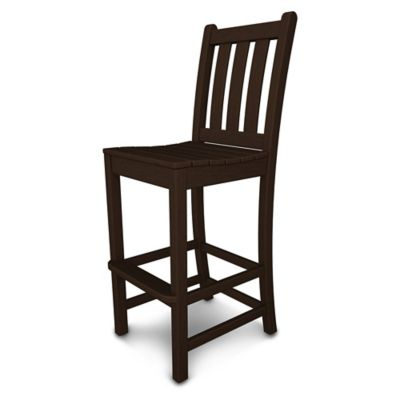 POLYWOOD® Traditional Garden Bar Side Chair In Mahogany