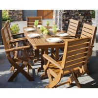 POLYWOOD® Signature 7-Piece Outdoor Dining Set in Teak
