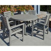 POLYWOOD® Signature 5-Piece Outdoor Dining Set in Slate Grey