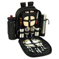 Picnic At Ascot™ Bold Picnic and Coffee Backpack with Service For 2 in Black/Yellow