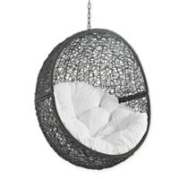 Modway Hide Patio Swing Chair Without Stand in Grey/White