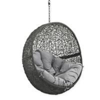Modway Hide Patio Swing Chair Without Stand in Grey/Grey