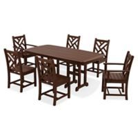 POLYWOOD® Chippendale 7-Piece Outdoor Dining Set in Mahogany