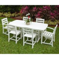 POLYWOOD® La Casa 7-Piece Outdoor Dining Set in White