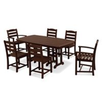 POLYWOOD® La Casa 7-Piece Outdoor Dining Set in Mahogany