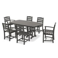 POLYWOOD® La Casa 7-Piece Outdoor Dining Set in Slate Grey