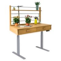 Vifah Adjustable Height Potting Table in Sand/Grey