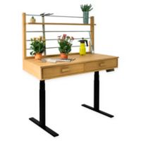 Vifah Adjustable Height Potting Table in Sand/Black