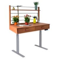 Vifah Adjustable Height Potting Table in Grey/Wood