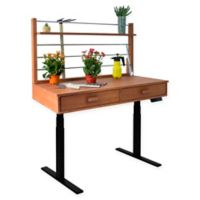 Vifah Adjustable Height Potting Table in Black/Wood