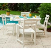 POLYWOOD® La Casa 5-Piece Outdoor Dining Set in White
