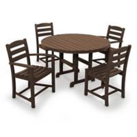 POLYWOOD® La Casa 5-Piece Outdoor Dining Set in Mahogany