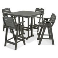 Polywood® Nautical 5-Piece Bar Set in Slate Grey