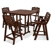 Polywood® Nautical 5-Piece Bar Set in Mahogany
