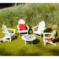 POLYWOOD® 5-Piece Outdoor Conversation Set in White