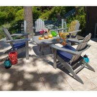 POLYWOOD® 5-Piece Outdoor Conversation Set in Light Grey