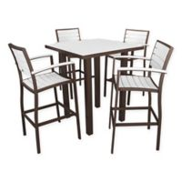 POLYWOOD® Euro 5-Piece Bar Set in Bronze/White