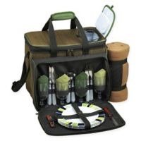 Picnic at Ascot 4-Person Picnic Cooler with Blanket in Green