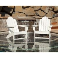 POLYWOOD® Long Island Outdoor Adirondack Chairs in White (Set of 2)