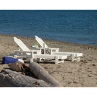 POLYWOOD® Long Island 3-Piece Outdoor Chaise Set in White